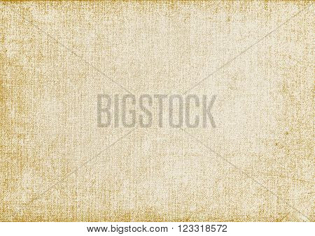 background yellowed old canvas for design.vector illustration