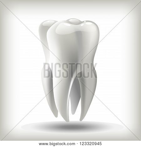 image tooth  3D vector illustration for dentistry