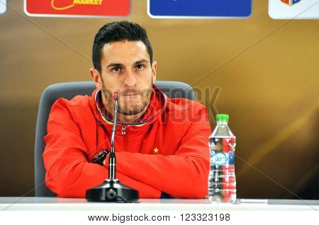 Press Conference Berfore Romania - Spain Friendly Football Match