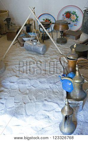 Bahrain, Al Jasra, antique household items in the house where was born the Emir of Bahrain