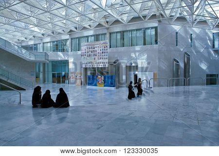 Manama, Bahrain - January 7 2007: Students in the Gulf Bahrain university.