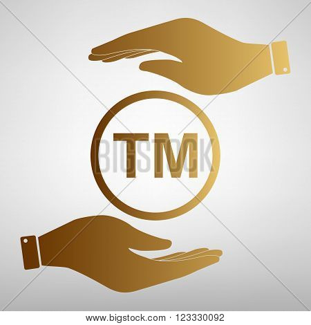 Trade mark sign. Flat style icon vector illustration.