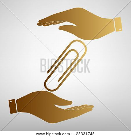 Clip sign. Flat style icon vector illustration.