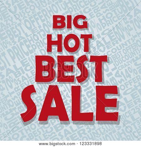 Big hot best sale text. Vector illustration
