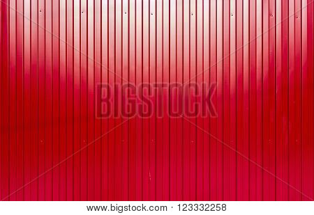 Red Painted Corrugated Sheet Metal Texture