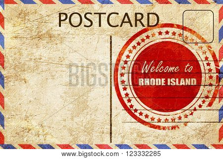 Vintage postcard Welcome to rhode island with some smooth lines