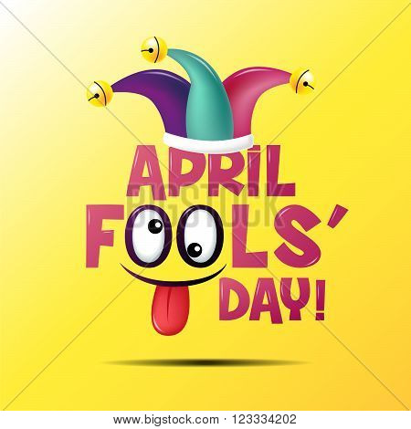 April fool's day ,Typography ,Colorful, vector illustration