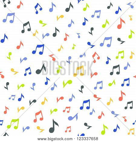 Abstract music seamless pattern background vector illustration for your design. Vector seamless pattern.