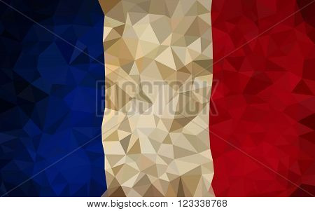 France high poly triangulation flag In EPS 8 Format