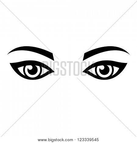 Woman eyes vector