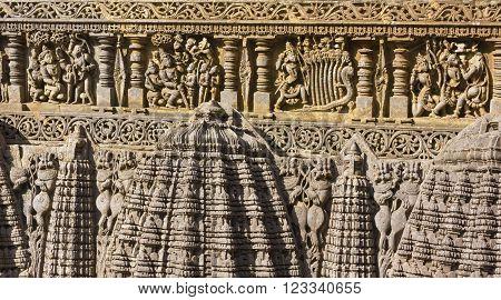 Stone carvings at Amrutapura Temple, Karnataka, India
