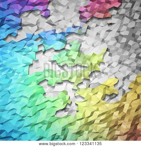 Shiny colorful mosaic background, vector eps10 illustration