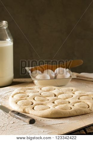 Traditional Kazakh (Asian) baursak dish prepared from dough