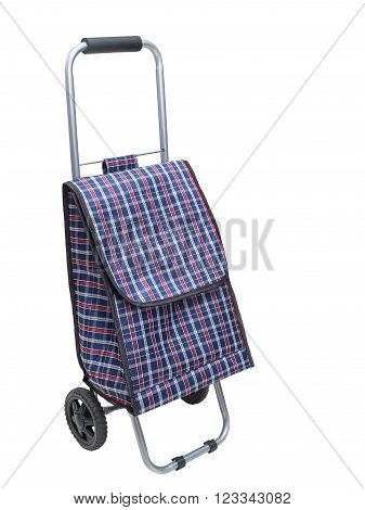 Shopping trolley bag isolated on a white background