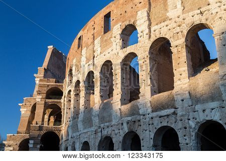 View of the exterior of the Colosseum, Rome