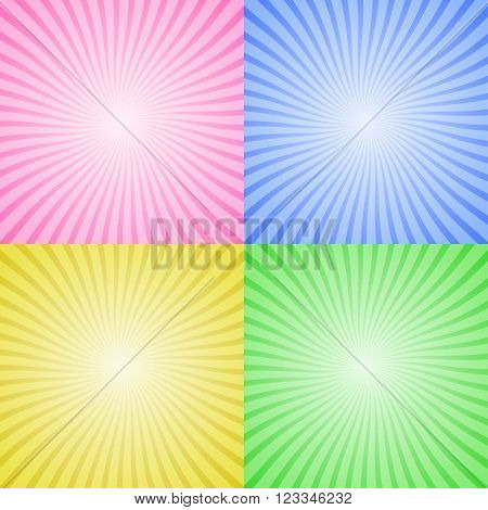Radial abstract background. Bright colors. Vector illustration.
