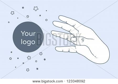 Vector modern flat concept design on funding. Creative illustration on hand and greed.