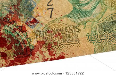 10 Gambian Dalasi Bank Note, Bloody