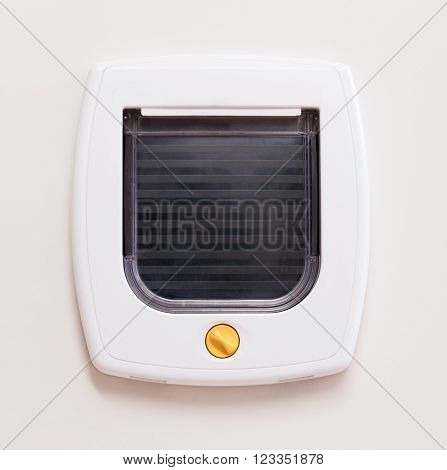 Inside View Of A Regular White Cat Flap