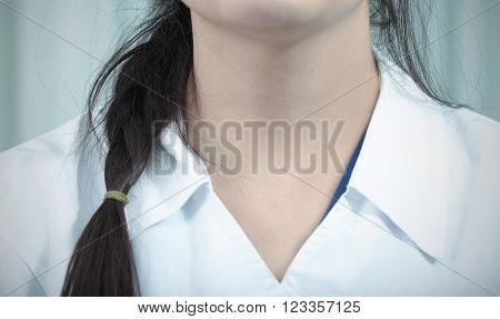 Portrait of a young nurse in the hospital