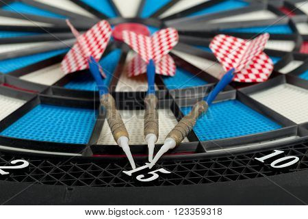 Darts Board With A Dart