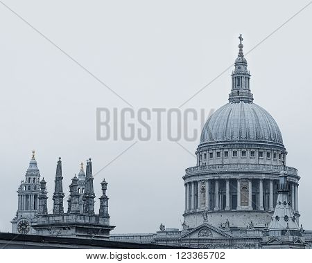 St Pauls cathedral dome in the city of  London,UK.