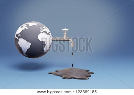 Globe Pouring Oil