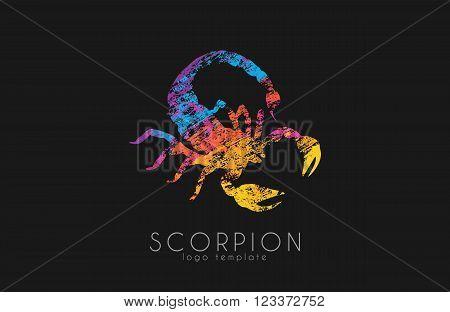 Scorpion logo design. Color scorpion. Creative logo.