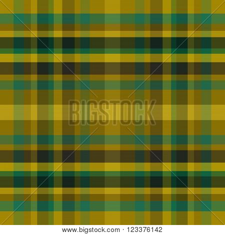 abstract vector tartan seamless - yellow and blue