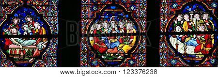 Burial Of Jesus, Mary And Pentecost - Stained Glass