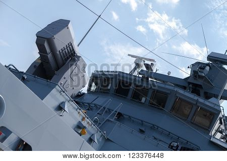 a rolling airframe missile system on German navy corvette