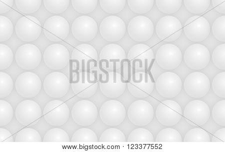 Modern white hemisphere shaped structure background texture