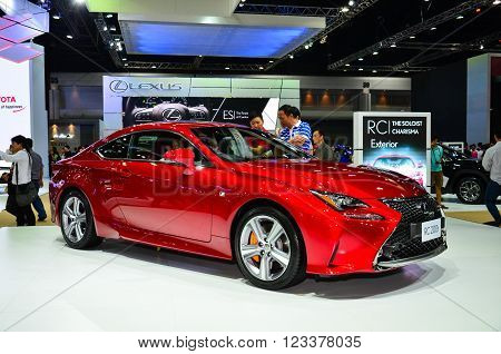 NONTHABURI - MARCH 26: Lexus RC 200t on display at The 37th Bangkok International Thailand Motor Show 2016 on March 26, 2016 Nonthaburi, Thailand