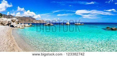 beautiful beaches of Greek islands - Apella in Karpathos