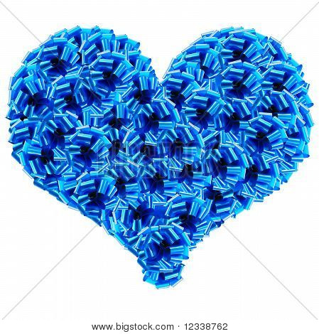 Blue Cockades Heart
