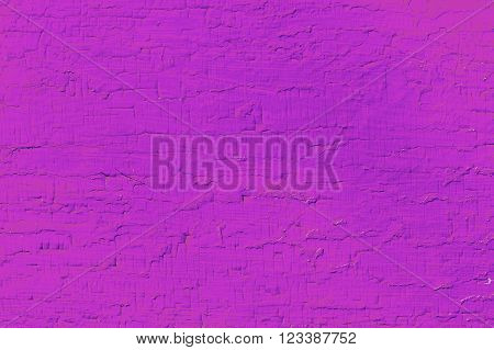 Wooden planks with paint as a texture and background. Painted wood planks magenta color as a background with a copy of the space. Texture of cracked paint. single-colored surface. Horizontal orientation.