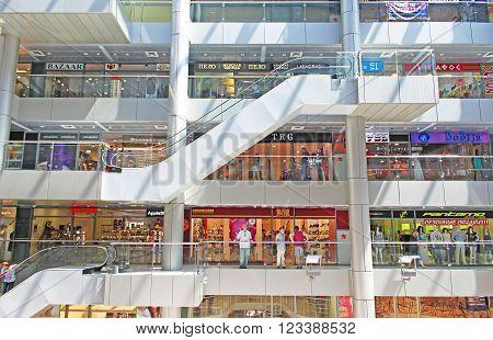 ODESSA, UKRAINE - JULY 21, 2012: Famous shopping mall - Afina Trade Centre, Odessa, Ukraine
