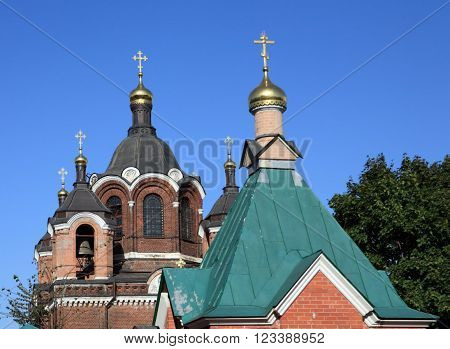 image of one church at dry sunny day
