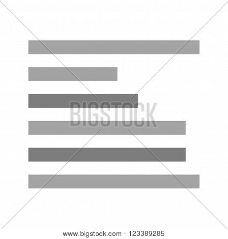 Left, align, text icon vector image.Can also be used for text editing. Suitable for mobile apps, web apps and print media.