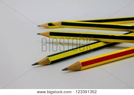 pencil eraser on white background . object ** Note: Shallow depth of field