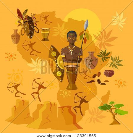 Africa map african tribes culture and history
