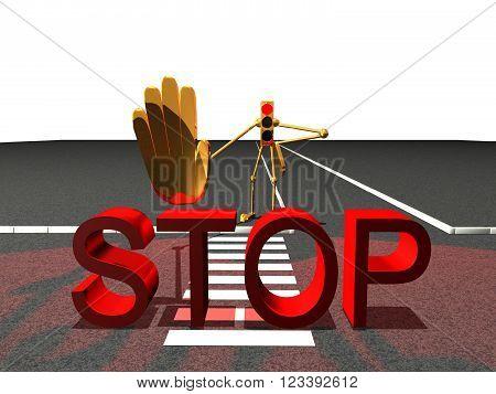 crosswalk Red traffic stop sign traffic light