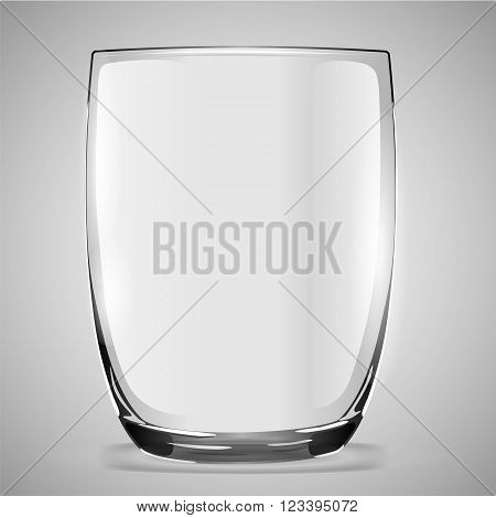 Vector illustration of a glass beaker illusion of transparency