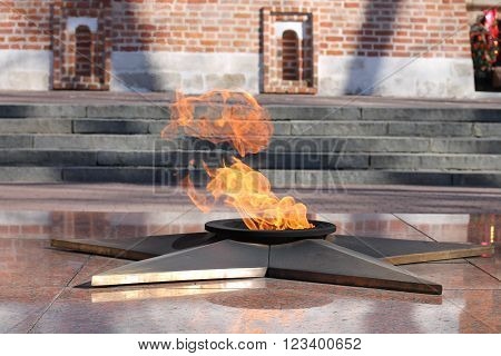 Memorial Eternal Flame heroes on holidays 23 February and 9 May