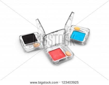 face powder isolated on a white background