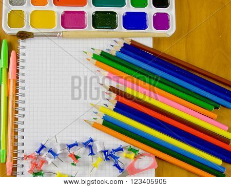 bright school belonging office commodities And a pure sheet of paper