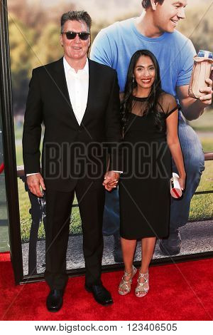 NEW YORK-JUN 24: Sam J. Jones (L) and wife Ramona Jones attend the 'Ted 2' world premiere at the Ziegfeld Theatre on June 24, 2015 in New York City.