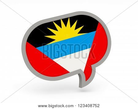 Chat Icon With Flag Of Antigua And Barbuda