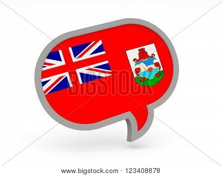 Chat Icon With Flag Of Bermuda