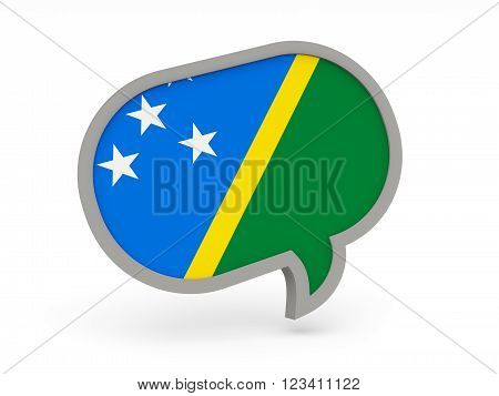 Chat Icon With Flag Of Solomon Islands